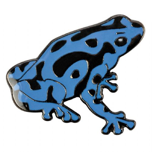Blue Bug Pin Badge, Pois.Dart Frog, blue